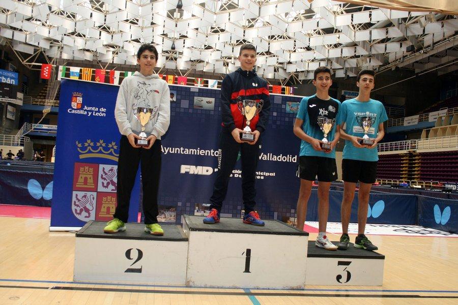 El burgalés Dani Berzosa se proclama campeón del Torneo Nacional de Tenis de Mesa Infantil