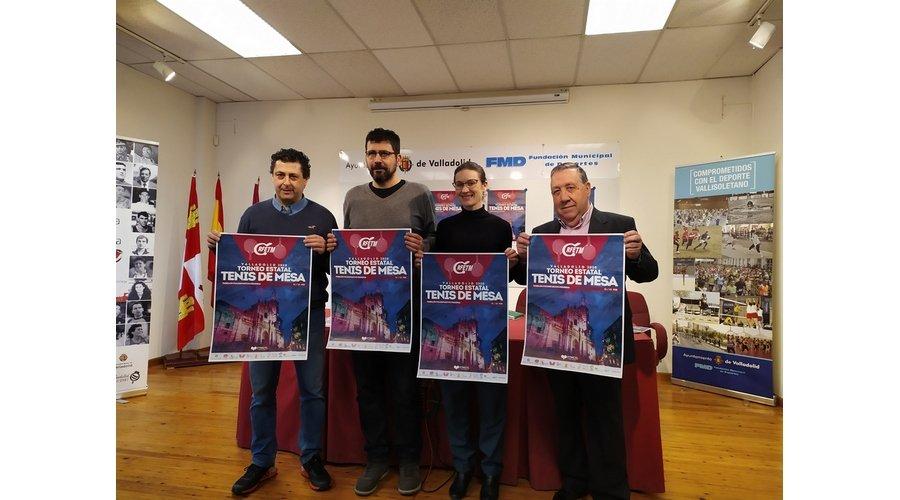 744 deportistas de toda España participan en el Torneo Estatal de Tenis de Mesa del 21 al 23 de febrero en Valladolid