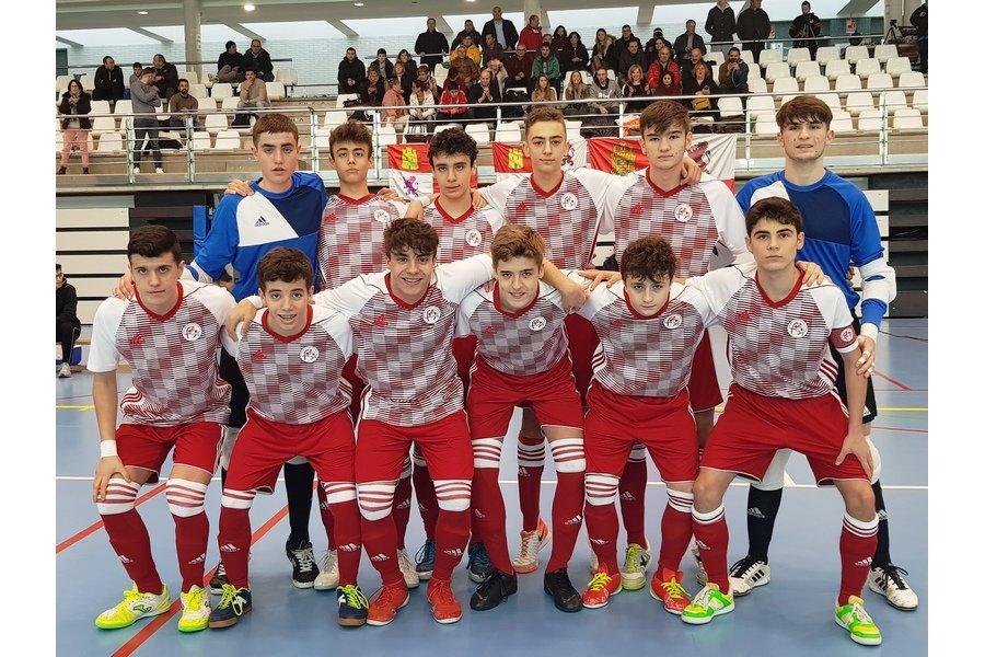 Castilla y León buscará plantarse en la final del campeonato de España de fúbol sala cadete en Las Rozas