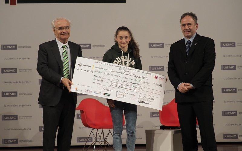 La joven escaladora de 14 años, Iziar Martínez, Premio Joven Promesa 2019 de Valladolid