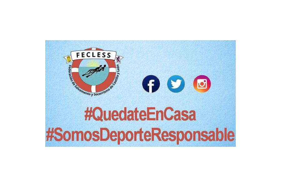 Salvamento y Socorrismo de Castilla y León se une a las campañas #QuedateEnCasa y #SomosDeporteResponsable
