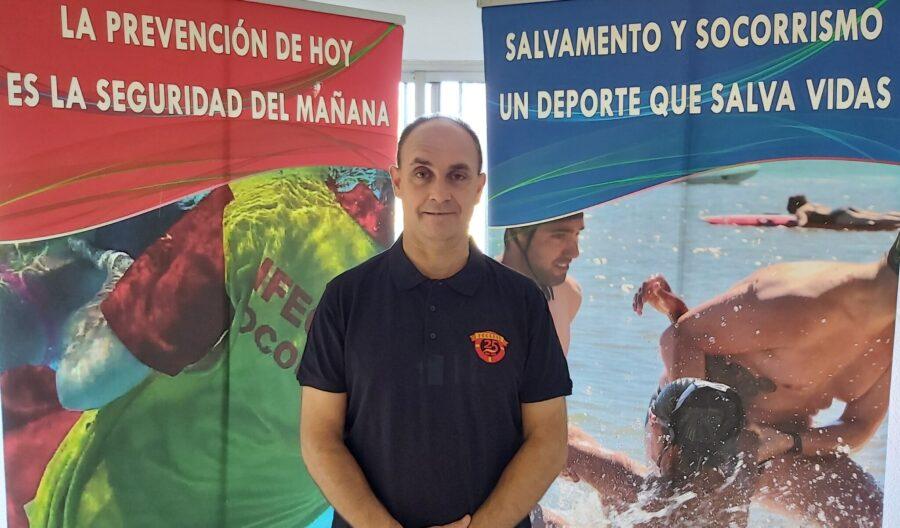 Ignacio Retuerto, presidente de la Federación de Salvamento y Socorrismo de Castilla y León, distinguido por el COE con la Insignia Olímpica