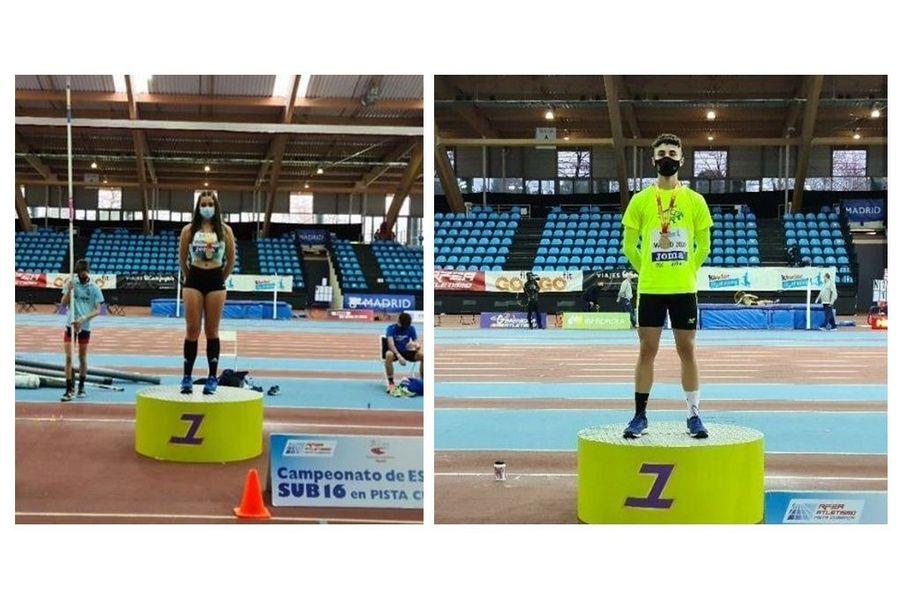 Castilla y León logra siete medallas, dos oros, dos platas y tres bronces, en el Nacional sub16 de Atletismo en pista cubierta