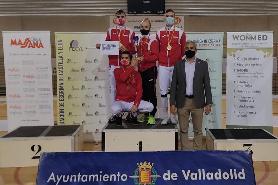 La esgrima de Burgos domina en el Autonómico Absoluto celebrado en Valladolid con cuatro oros y dos platas