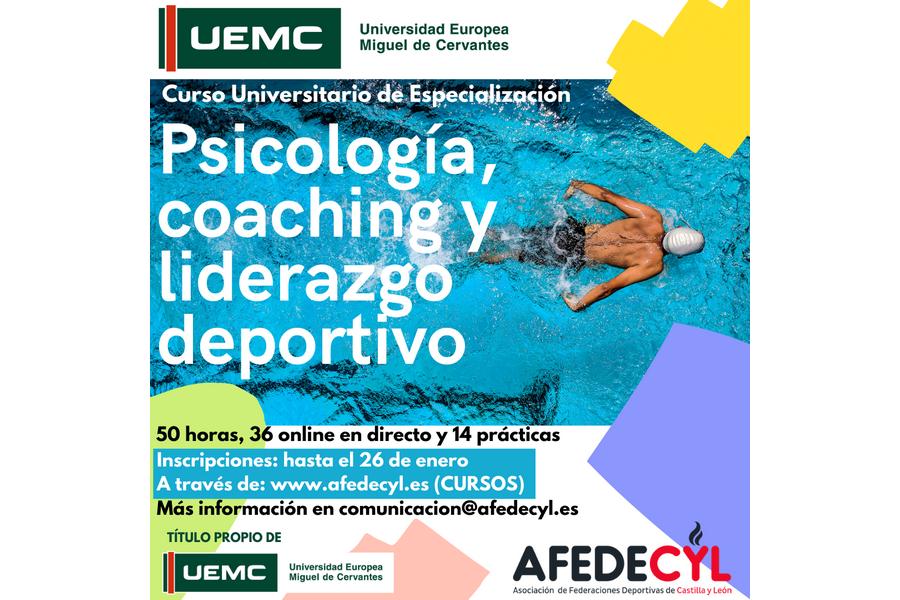 Hasta el 26 de enero abierto el plazo de inscripción para el CUE en Psicología, Coaching y Liderazgo Deportivo