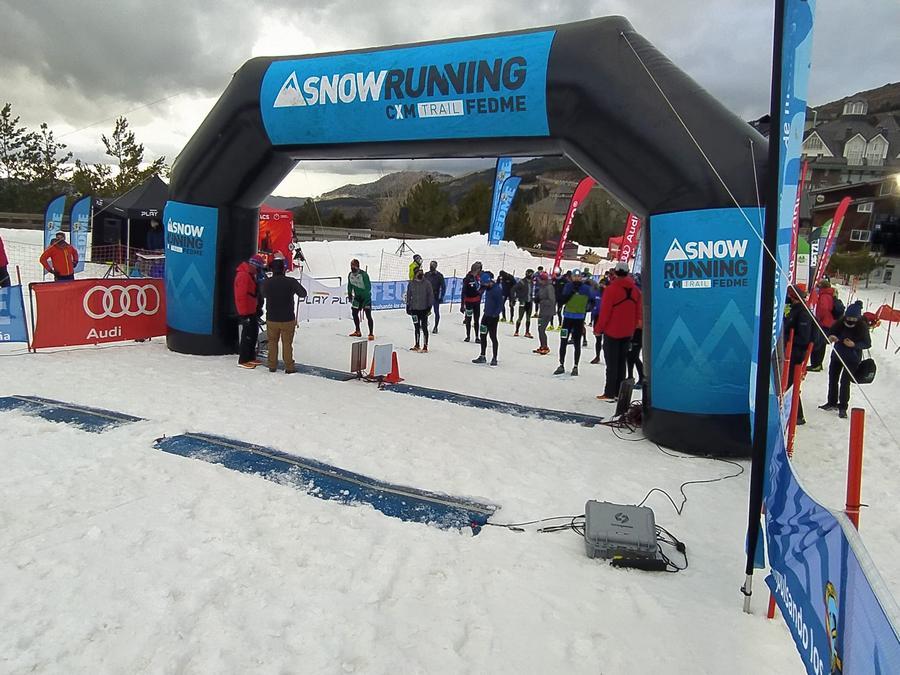 La selección de Castilla y León subcampeona de España en el Nacional de Snow Running
