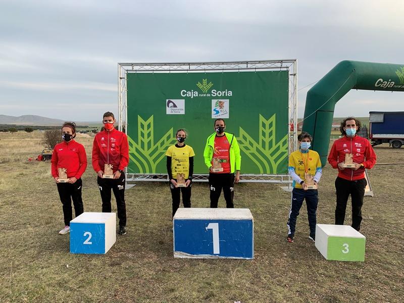 Lamas y Rújula, campeones regionales de Duatlón Cross en Esteras de Lubia (Soria)