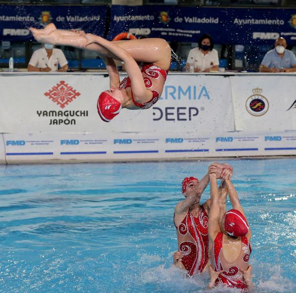 El Fabio Nelli roza el bronce en el Nacional de natación artística celebrado en Valladolid