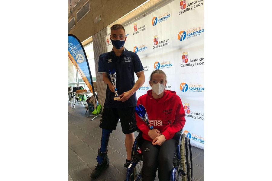 Los paralímpicos Marta Fernández e Iñigo Llopis, los mejores en el Open Internacional de Natación Adaptada de Castilla y León