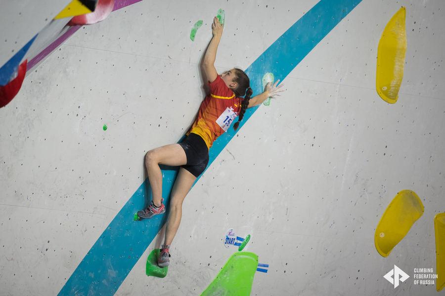 Iziar Martínez, cuarta en el Campeonato de Europa de Escalada en Bloque Juvenil