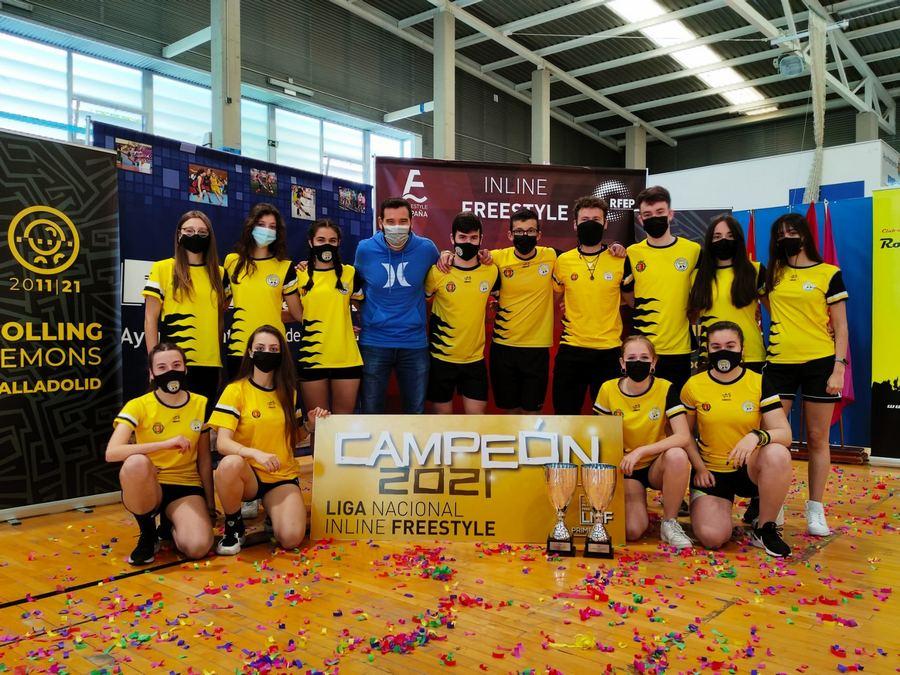 Rolling Lemons se proclama campeón de la Liga Nacional de Inline Freestyle masculina y femenina