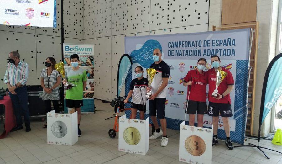 El CD Fusion, bronce en el Campeonato de España de Natación Adaptada