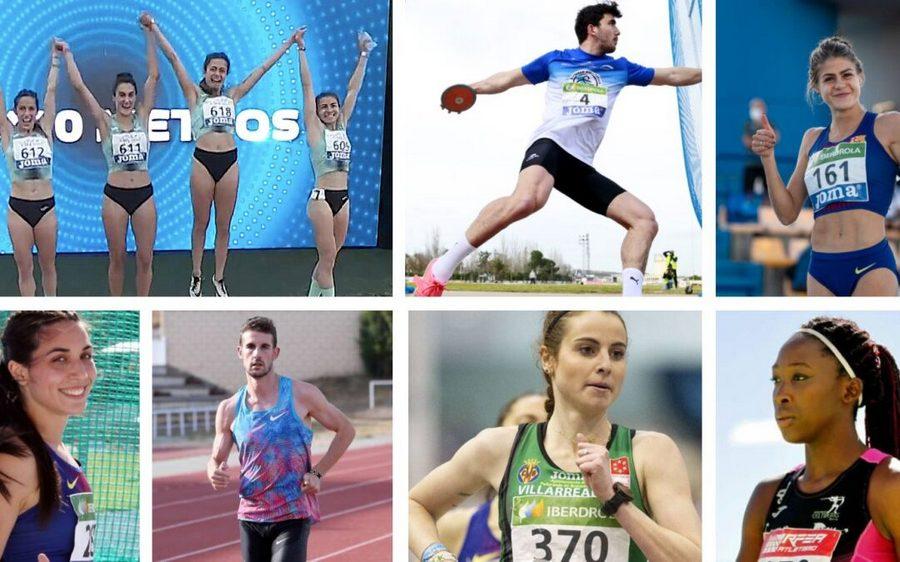 Castilla y León consigue nueve medallas y seis cuartos puestos en el campeonato de España absoluto de atletismo