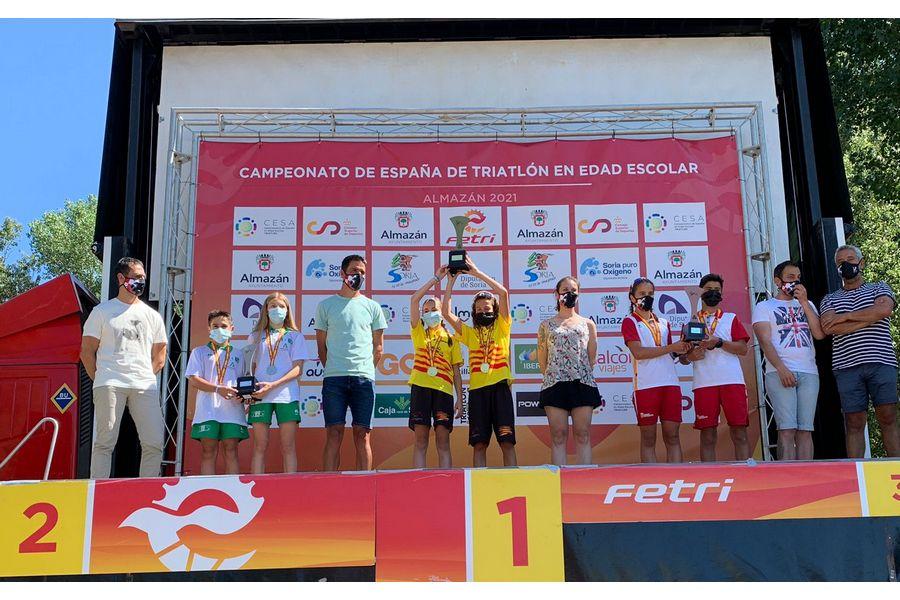 Castilla y León en el podio Infantil en los Campeonatos de España de Triatlón en Edad Escolar