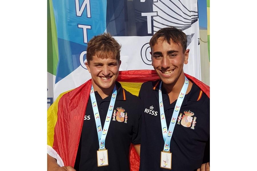 Iván Romero Fernández y Alberto Turrado Álvarez, campeones de Europa de Salvamento y Socorrismo