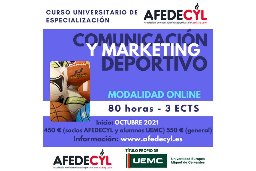 Abierto el plazo de inscripción para el CUE en Comunicación y Marketing Deportivo organizado por AFEDECYL