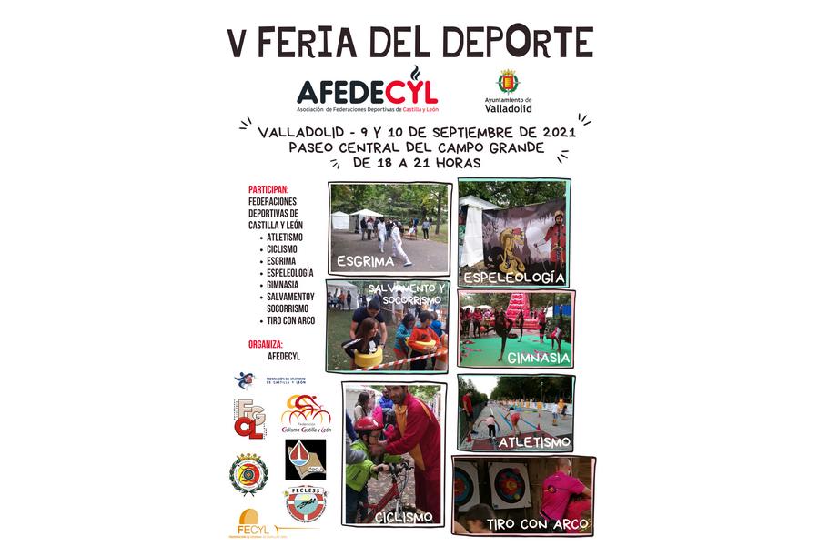 La V feria del Deporte se celebrará en el Paseo central del Campo Grande el 9 y 10 de septiembre