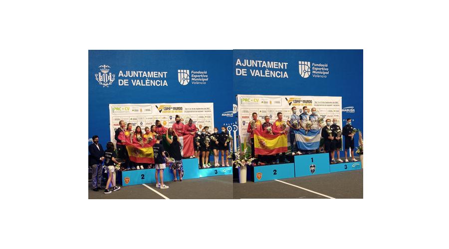La palentina María Rodríguez y el leonés Álvaro Moreno, plata en la Copa del Mundo de Pelota