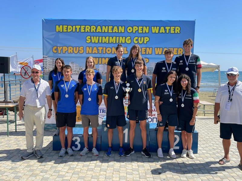 El vallisoletano Mario Arias, Oro en el 4×1,25 kms. en las Aguas Abiertas Infantil – Junior  de la Copa Mediterránea