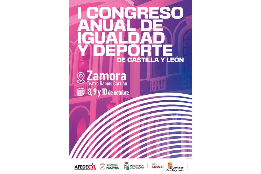 AFEDECYL organiza el I Congreso Anual de Igualdad y Deporte en Zamora los días 8, 9 y 10 de octubre